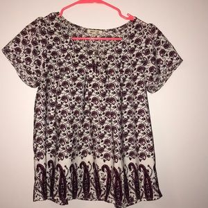 Tops - Shirt with floral pattern